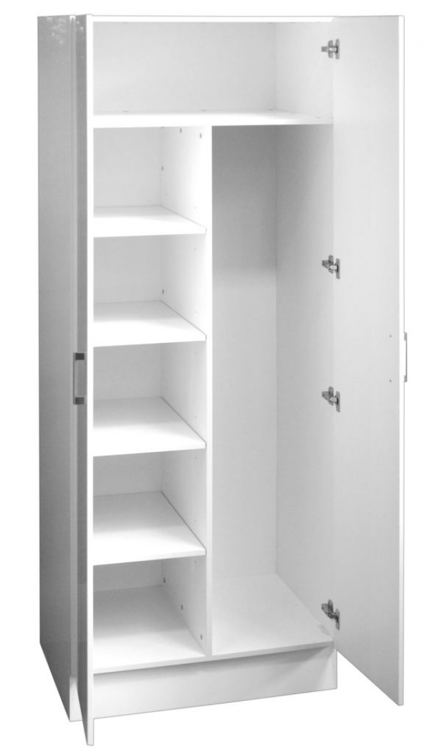 Combination linen broom cupboard double door 80cm ross 39 s Pantry 800mm