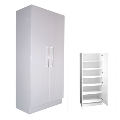 Pantry Linen Cupboard Double Door 80cm With Extra Depth Ross 39 S Discount Home Centre