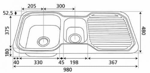 Nugleam 980 Sink Specs