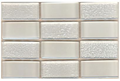 Glass Mosaica Checkered Ice