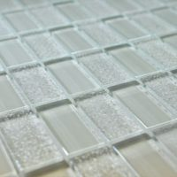 Glass Mosaica Checkered Ice mosaic tile