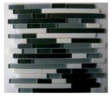 Glass Mosaica Smoke Grey Marble Mix