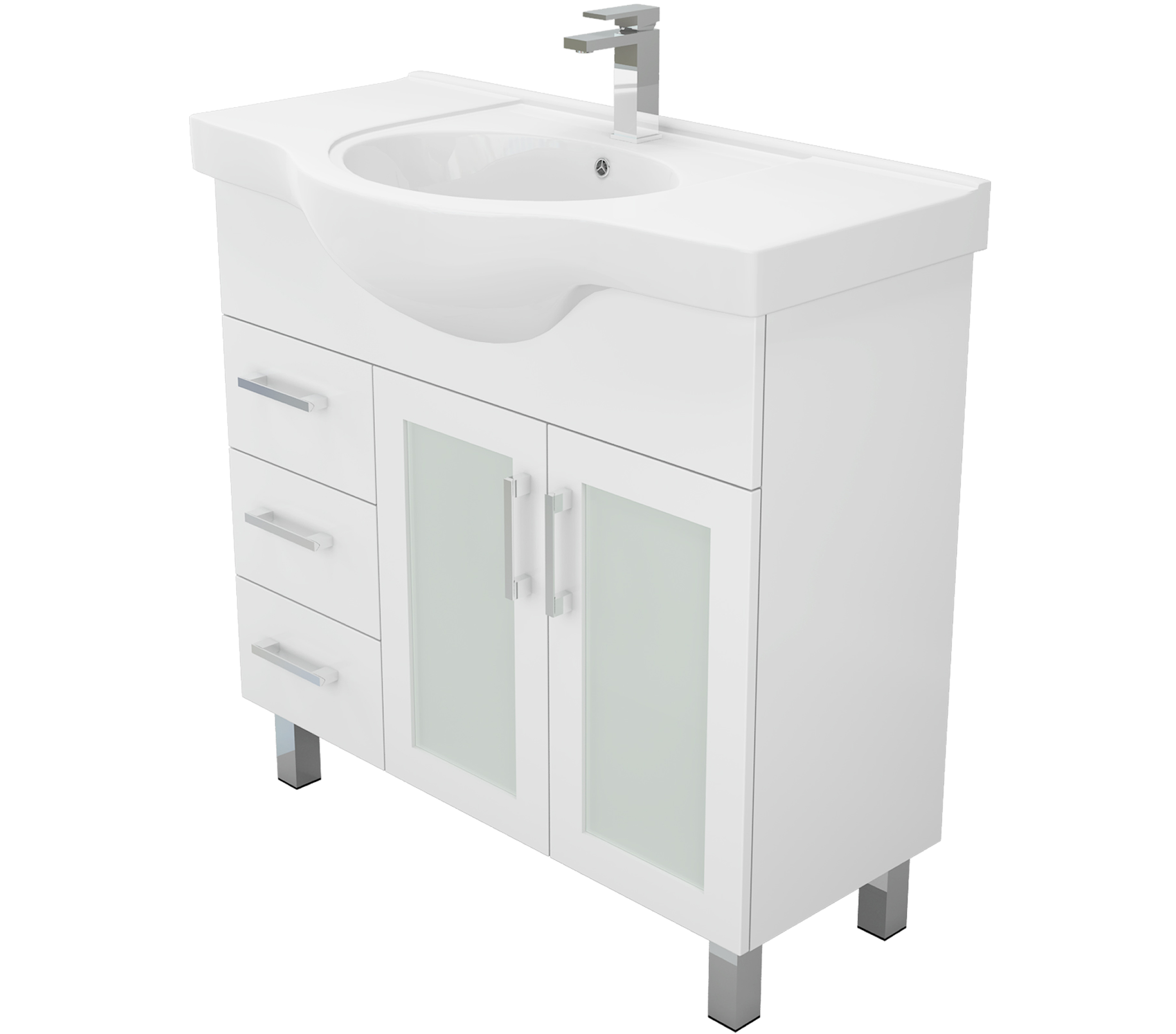 Charli Semi Recessed Vanity Bathroom Vanities Perth