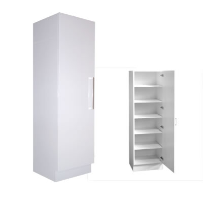 Pantry linen cupboard single door 60cm with extra depth for Single kitchen cupboard