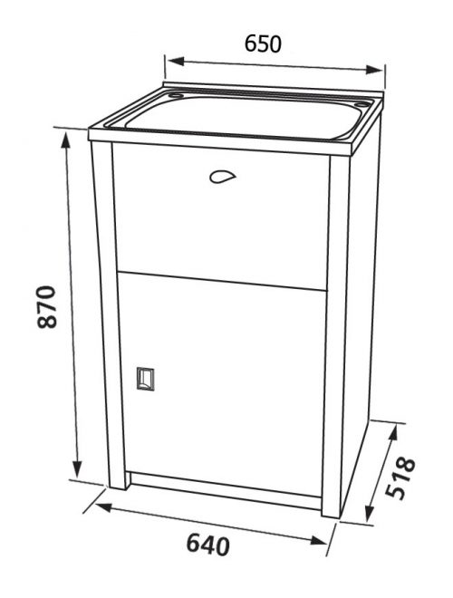NuGleam Maxi Laundry Cabinet & Sink