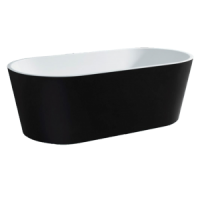 Galaxy Oval Freestanding Bath - Black