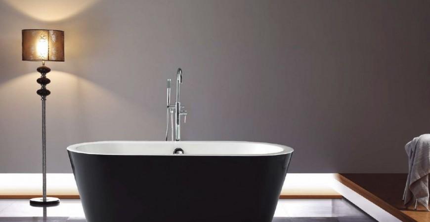 Galaxy Black Oval Freestanding Bath