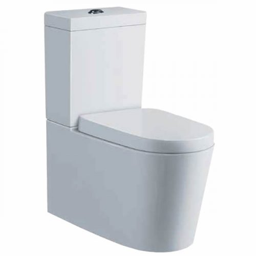 Cube Curved Wall Faced Toilet Suite