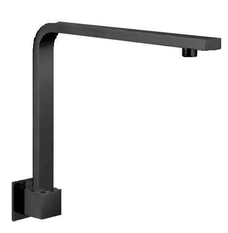 Square Hi-Rise Shower Arm - Black