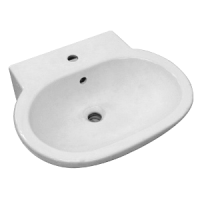Olix Wall/Pedestal Basin