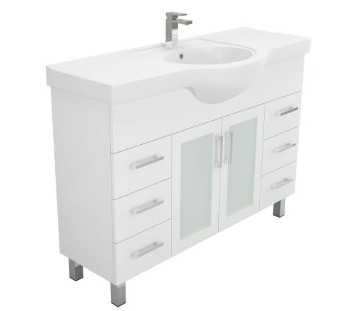Discount Charli Semi Recess Vanity Unit white gloss ceramic bowl