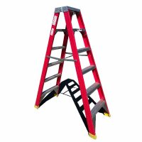 1.8m double sided fibreglass step ladder Perth