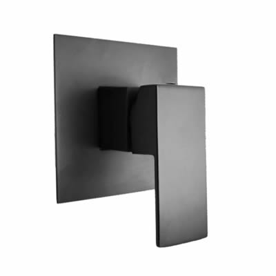 Black Cube Shower Mixer