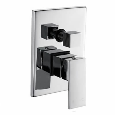 Cube Shower Mixer with Diverter