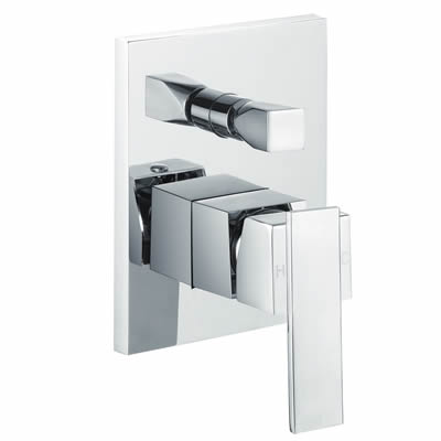 Square Shower Mixer with Diverter, Bathroom Tapware Perth
