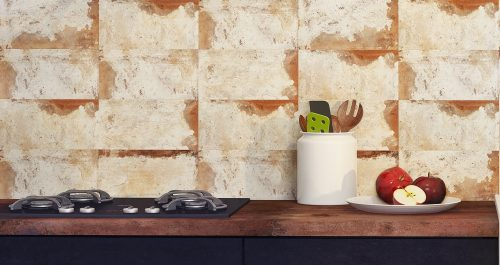 Scraped Wall Rust Tile Discount Perth Feature wall