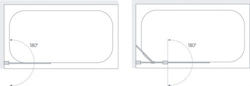 Curved Double Panel Bath Screen Specs