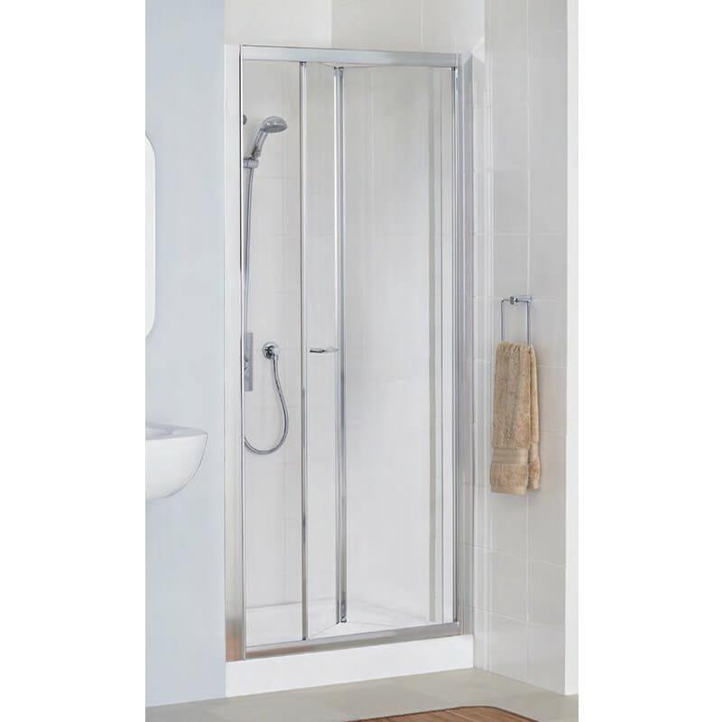 Bi fold door shower screen by lakes bathroom shower for Bi fold screen doors