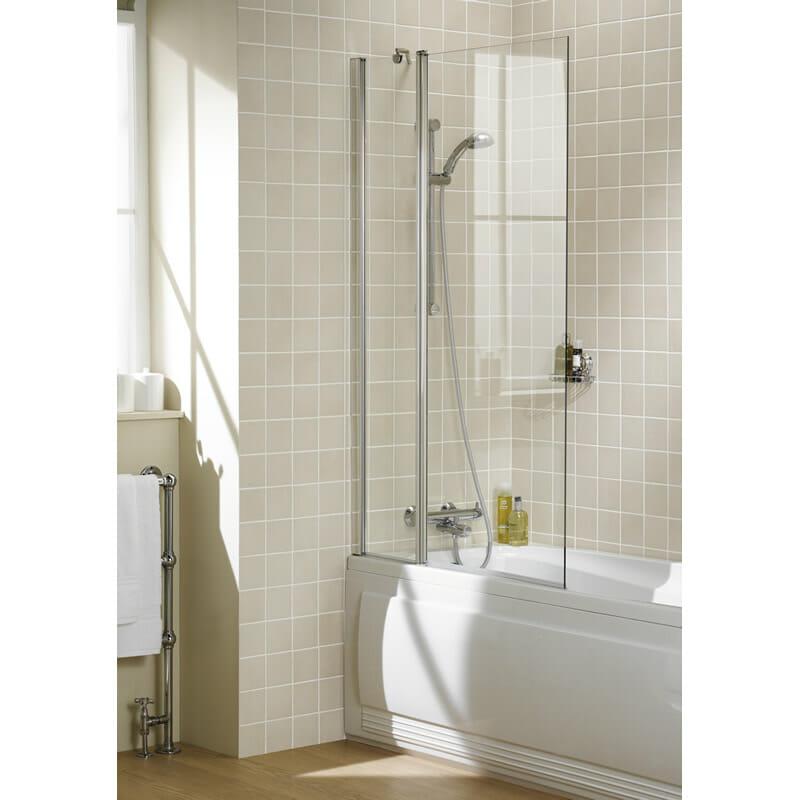 Square Double Panel Bath Screen by Lakes Bathroom, Bath Screens Perth