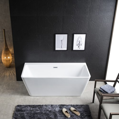 Rio Black & White Back to the Wall Freestanding Bath - Bathroom Composite