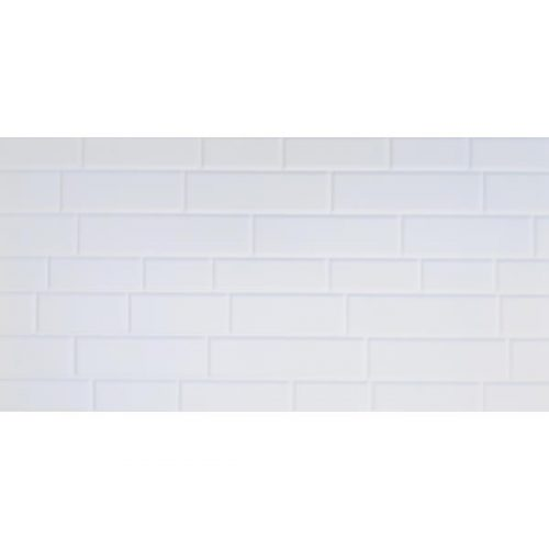 Matt White Brick Pattern