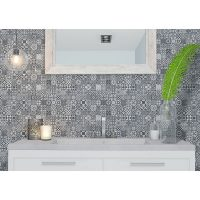Deco Heritage Mix Black tile Feature Wall Discount Perth