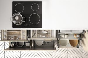 The most popular built-in Kitchen cabinet storage is…