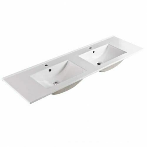 150cm Double Bowl Ceramic Vanity Top