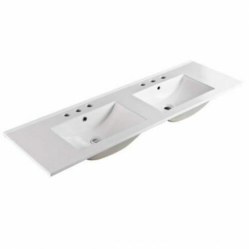 150cm Double Bowl Ceramic Vanity Top Specs