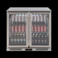 208lt Double Door Beverage Cooler