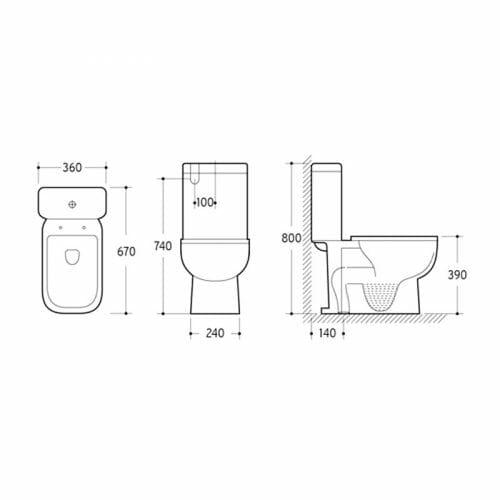 Nero Toilet Suite - Specs