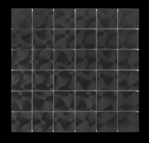 Stainless Steel Look Mosaic Tile