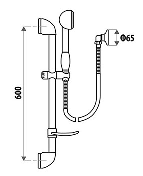 Builders Rail Shower - Specs
