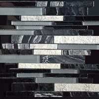 Perth, Discount, Tiles, Black, Interlocking, Art Deco, Mosaic, Feature, Wall