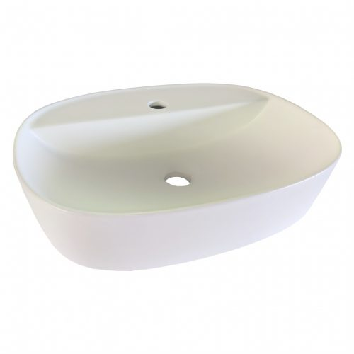 Cassino Vessel Matt White Bathroom Basin