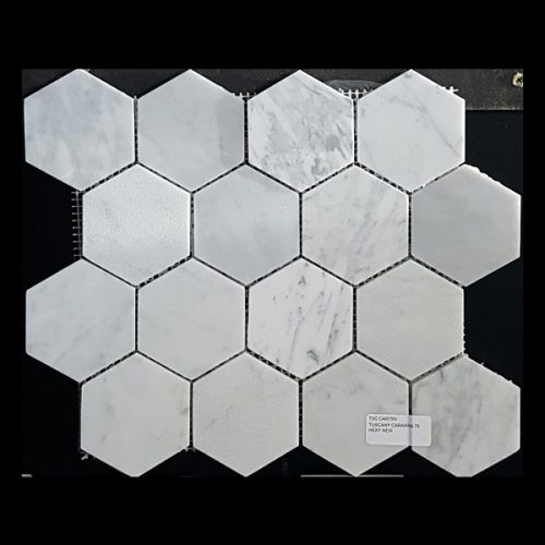 Tuscany Cararra hexagon