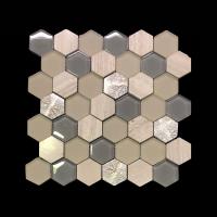 Art Deco Cream Hexagon Tile Mosaic