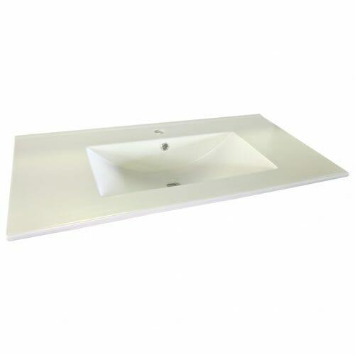90cm Ceramic Vanity Top Matt White