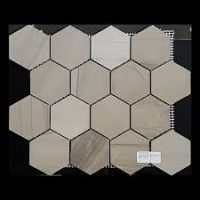 Hexagon Mosaic Tile Feature Wall Athens Grey Stoneworld Perth Discount Tile