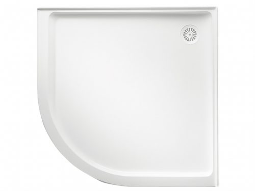 Flinders Curved Shower Base With Rear Outlet