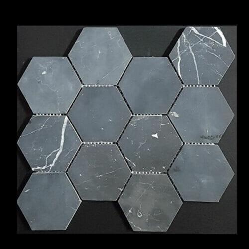 Tuscany Nero hexagon tile