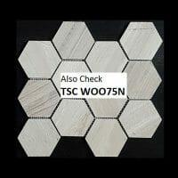 Tuscany Wood Light Grey 75mm Hexagon